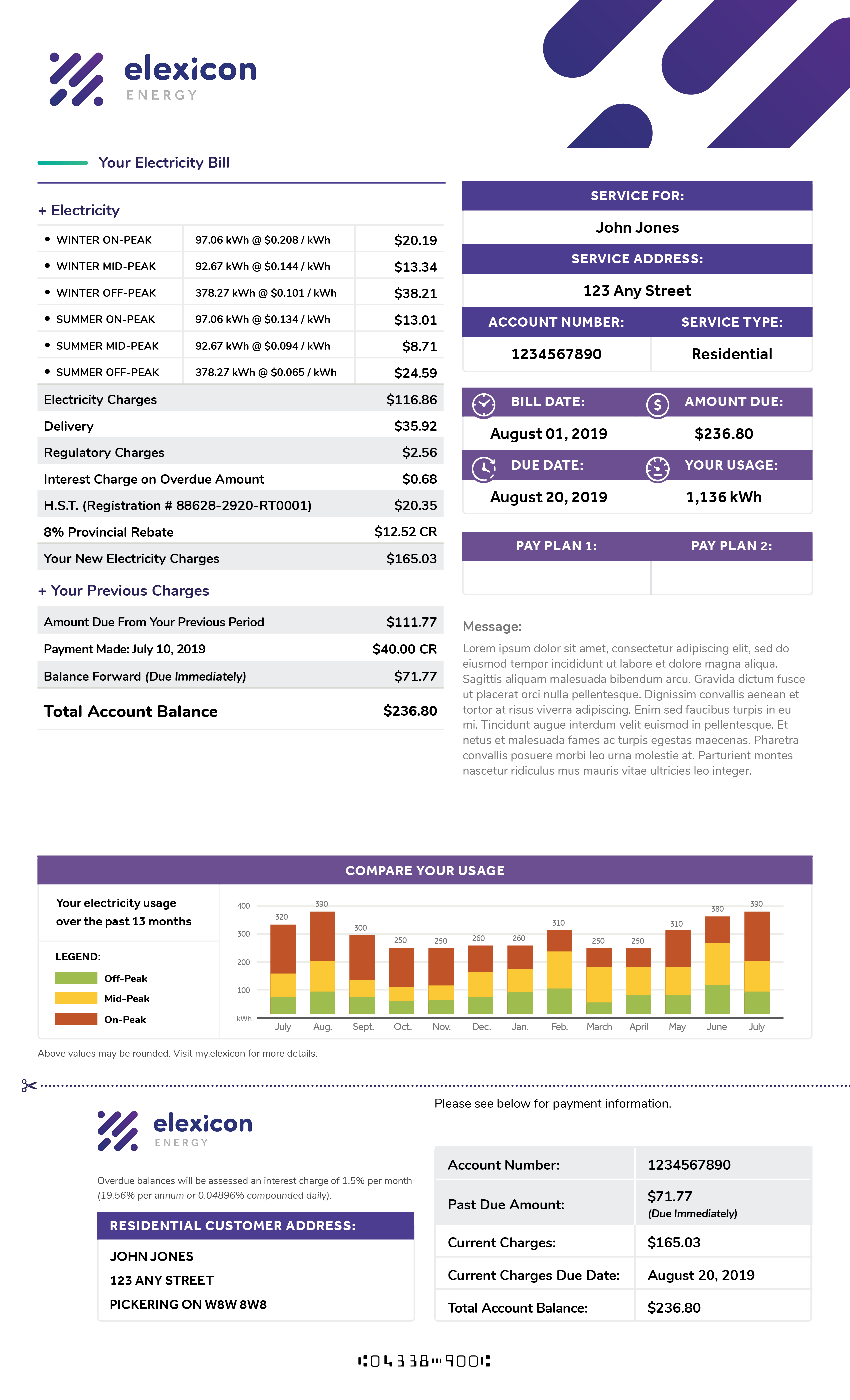 elexicon residential bill image